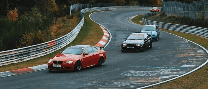 BMW Cars on the Nurburgring Race Track
