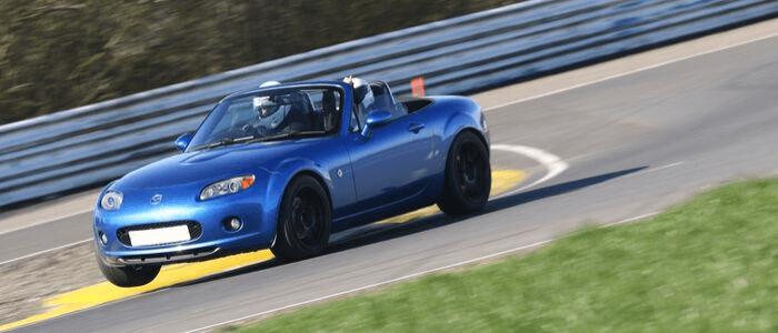 Blue Mazda Car